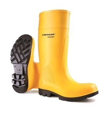 Dunlop Purofort Yellow Professional Safety Wellingtons  - Click to view a larger image
