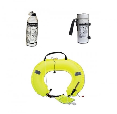 Jonbuoy Inflatable Horseshoe Buoy - Hard Case  - Click to view a larger image