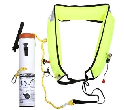 Jonbuoy Inflatable Rescue Sling with Hard Case  - Click to view a larger image