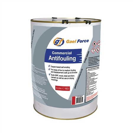 Gael Force Commercial Antifouling 5ltr - Red  - Click to view a larger image
