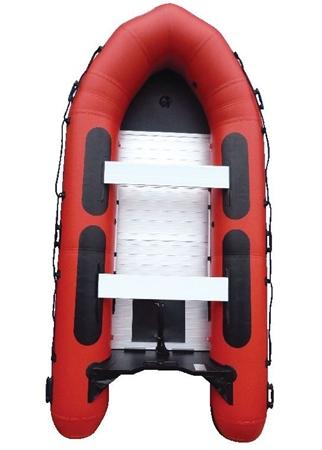 Sport Boat with Aluminium Floor - Red