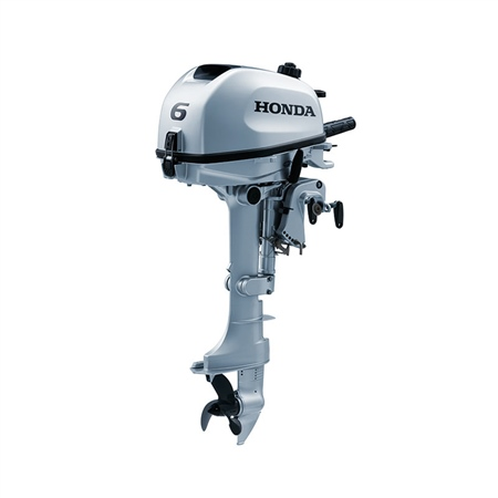 Honda 6hp Outboard with 6 amp Charging Coil - Long Shaft  - Click to view a larger image