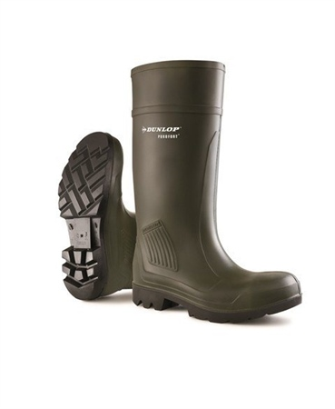 Dunlop Purofort Green Professional Safety Wellingtons  - Click to view a larger image