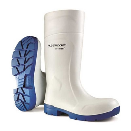Dunlop Purofort White Professional Safety Wellingtons  - Click to view a larger image