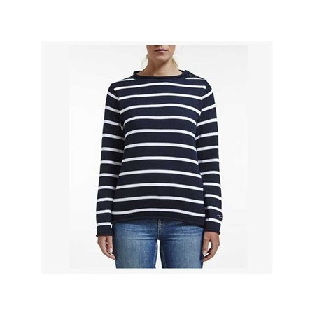 Holebrook Ladies Svea Crew Knit - Navy/White  - Click to view a larger image