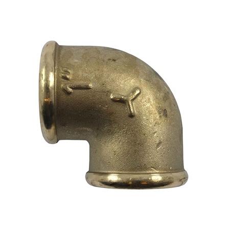 Aquafax 90 Degree Brass Elbow - Fem/Fem  - Click to view a larger image