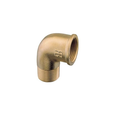 Aquafax 90 Degree Brass Elbow - Fem/Male  - Click to view a larger image
