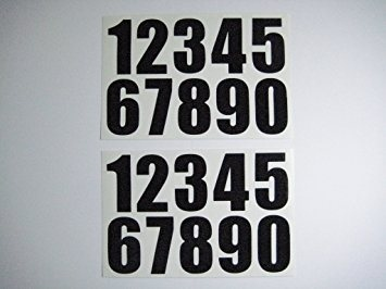 "Gael Force 2"" Self Adhesive Boat Stickers - Numbers  - Click to view a larger image"