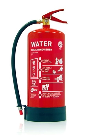 Jactone 9L Water 21A Med Approved Fire Extinguisher  - Click to view a larger image