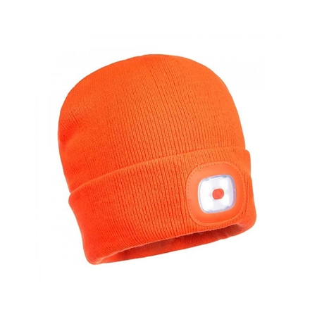 Unilite Beanie Hat with USB Rechargeable LED Light  - Click to view a larger image