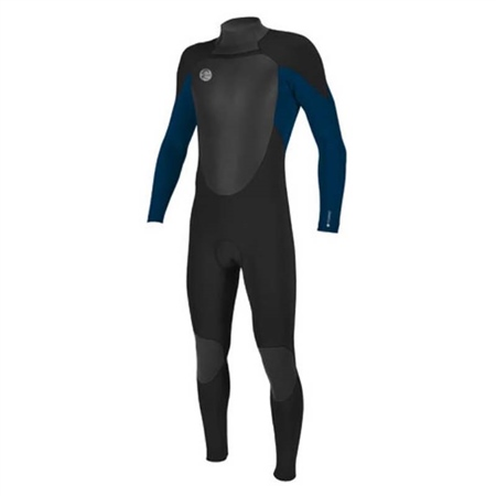 O'Neill Men's O'riginal 5/4mm Back Zip Full Wetsuit - Black/Deep Sea Blue  - Click to view a larger image