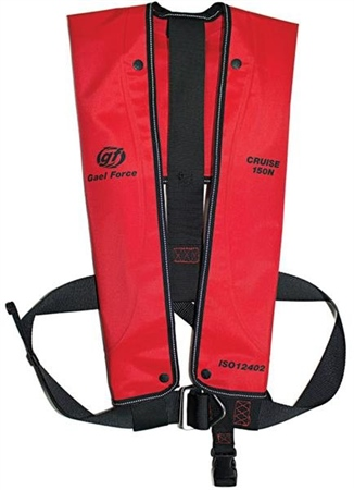 Gael Force Cruise ISO 150N Lifejacket - Auto Harness  - Click to view a larger image