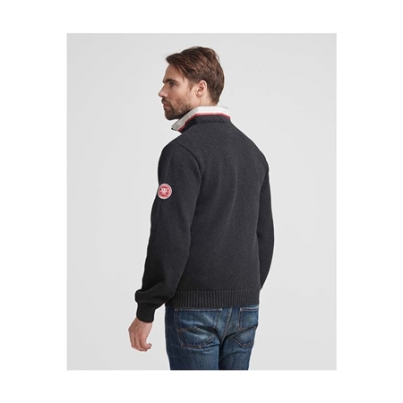 Holebrook Classic Sweater - Black Melange  - Click to view a larger image