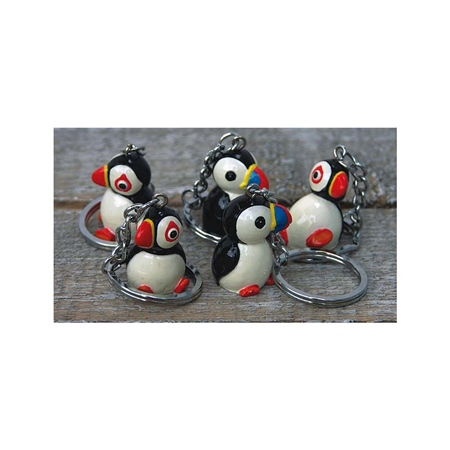 Nauticalia Puffin Keyring  - Click to view a larger image