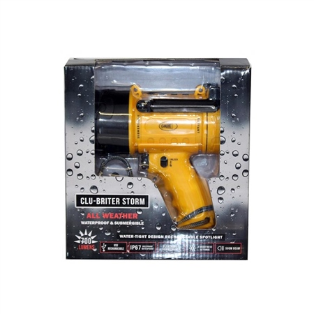 Cluson Clu-Briter Storm Rechargeable LED Pistol Torch Light  - Click to view a larger image